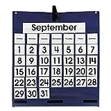 Carson Dellosa Monthly Calendar Pocket Chart Pocket Chart (5605), 6 Packs