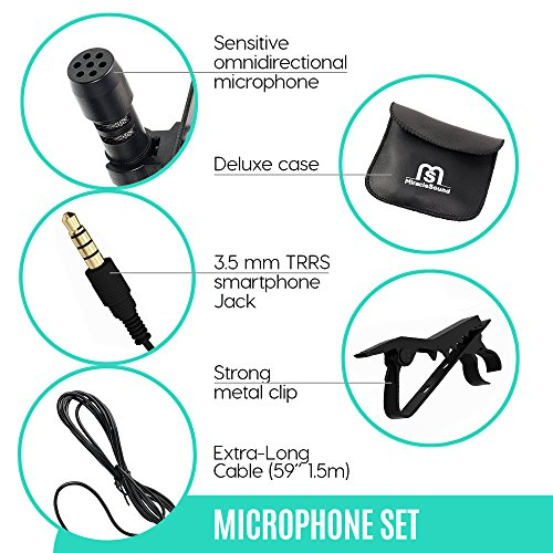 Ultimate Lavalier Microphone For Bloggers And Vloggers Lapel Mic Clip-on Omnidirectional Condenser for Iphone Ipad Samsung Android Windows Smartphones - Image 2