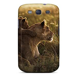 AngelineMS Case Cover Protector Specially Made For Galaxy S3 African Lion