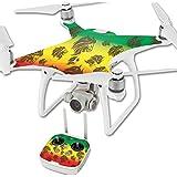 MightySkins Protective Vinyl Skin Decal for DJI Phantom 4 Quadcopter Drone wrap cover sticker skins Rasta Lion