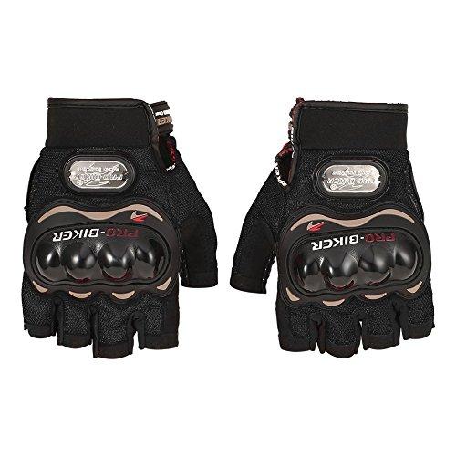 Baynne Motorcycle Gloves Outdoor Sports Half Finger Short Riding Biking Glove Working Gloves for Men Women