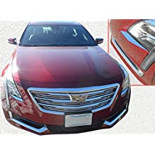 QAA FITS CT6 2016-2018 CADILLAC (2 Pc: Stainless Steel Headlight Accent Trim, 4-door) HL56230