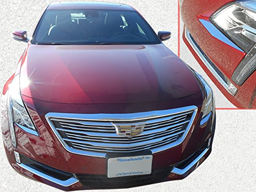QAA fits 2016-2018 Cadillac CT6 (2 Piece Stainless Head Light Accent Trim) HL56230