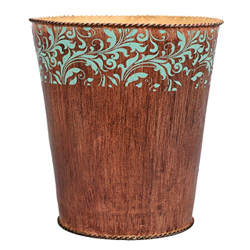 - BLACK FOREST DECOR Western Scroll Waste Basket