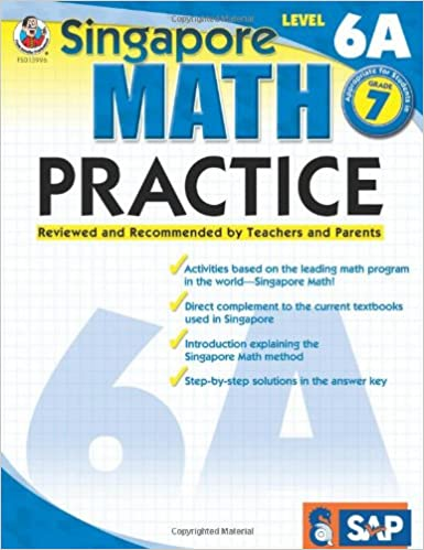 Amazon.com: Singapore Math Practice, Level 6A, Grade 7 ...