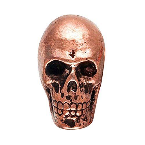 (Metal Skull Drawer Dresser Cupboard Pull Knob (Antique Copper))