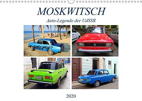 MOSKWITSCH - Auto-Legende der UdSSR (Wandkalender 2020 DIN A3 quer): Der sowjetische Oldtimer Moskwitsch auf Kuba (Monatskalender, 14 Seiten ) by Henning von Löwis of Menar