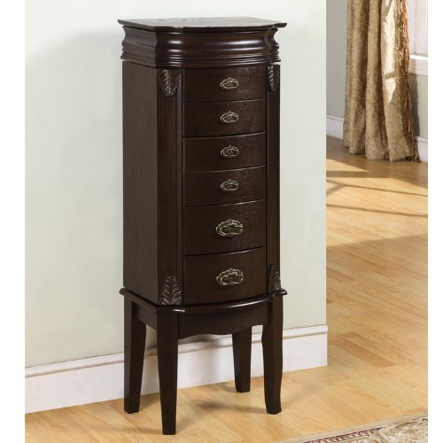Powell Italian Influenced Transitional ''Espresso'' Jewelry Armoire by Powell Furniture