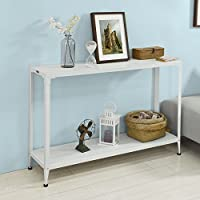 Haotian FSB08-W, Console Sofa Table Hall Table with One Shelf, W48.82 x D12.60 x H32.28in
