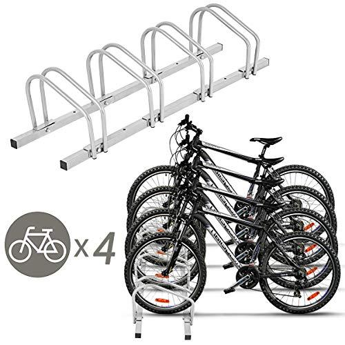 Goplus 4 Bike Rack Bicycle Stand Cycling Rack Parking Garage Storage Organizer, - Truck Rack Bicycle Pickup