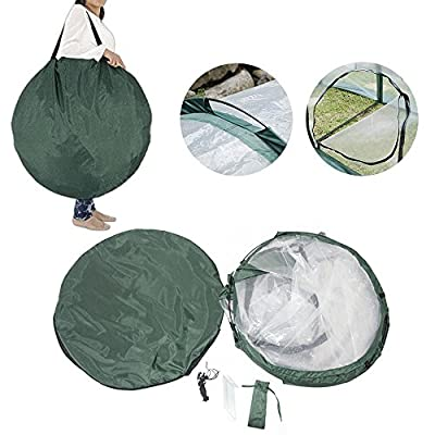 Garden Plant Tent,FOME PE Plant Tunnel Waterproof Greenhouse for Plants Outdoor Portable Greenhouses with Three Zipper Doors Backyard Flower Shelter by Focus On Me LLC