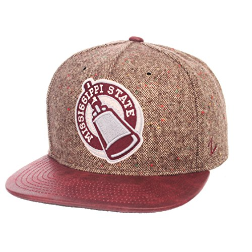 Satin Tweed Cap - Zephyr NCAA Mississippi State Bulldogs Adult Men Legend Heritage Collection Hat, Adjustable, Tweed