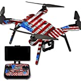 MightySkins Protective Vinyl Skin Decal for 3DR Solo Drone Quadcopter wrap cover sticker skins Flag Drips