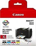 Canon PGI1500XL BK/C/M/Y Multipack Ink 4 Cartridges Original black/cyan/Magenta/yellow, XL