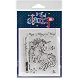 Your Next Stamp Clear Stamps 3-Inch x 4-Inch Magical Unicorn, Acrylic, Multicoloured, 2-Piece