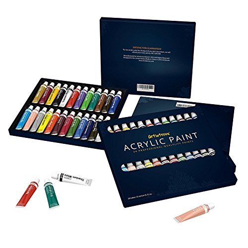 Acrylic Paint Set By Artistrove   Premium Pigments   24 Colors   Perfect For Painting Canvas  Ceramic  Clay  Nail Art  Wood  Airplane Kits   Models   Add To Your Collection Now