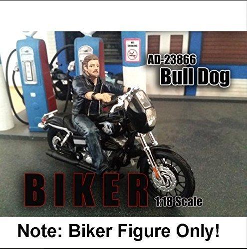 Biker Bull Dog Figure For 1 18 Scale Models by American Diorama 23866 by American Diorama