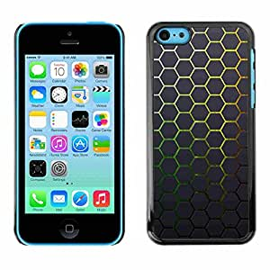 Shell-Star ( Minimalist Neon Honeycomb Mesh Pattern ) Fundas Cover Cubre Hard Case Cover para Apple iPhone 5C
