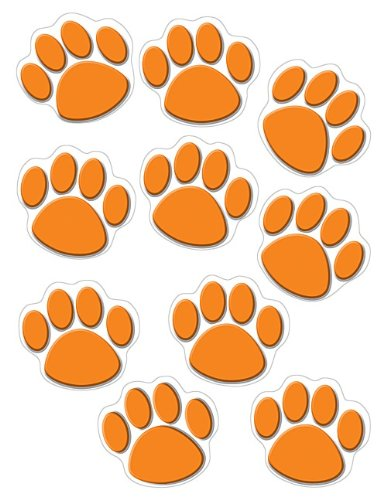 Tiger Paw Prints - Teacher Created Resources Orange Paw Print