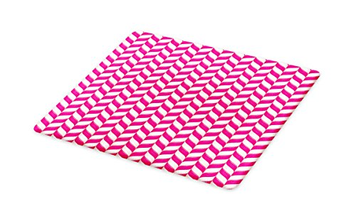 Lunarable Striped Cutting Board, Candy Cane Pattern with Viv