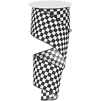 Amazoncom Black And White Check Ribbon 25 Wide X 10 Yards