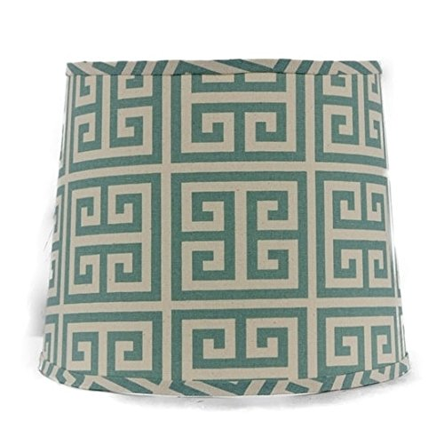 - AHS Lighting SD1436-16PD Greek Key Drum Lamp Shade with Uno, 16