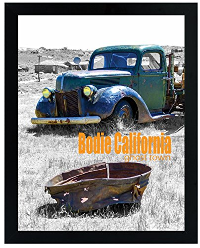Golden State Art, 11x14 Inch Poster Photo Picture Frame Simple and Stylish Black Frame