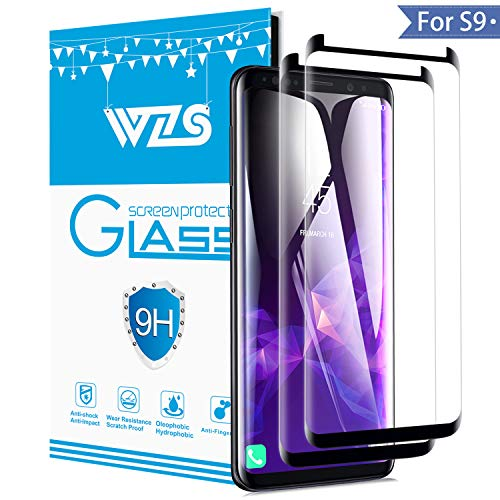 Airsspu Samsung Galaxy S9 Screen Protector Tempered Glass, [Easy to Install][Anti-Scratch],Bubble-Free(2 Pack)
