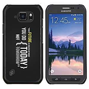 LECELL--Funda protectora / Cubierta / Piel For Samsung Galaxy S6Active Active G890A -- Su futuro es creado por lo que haces hoy --