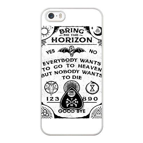 Coque,Apple Coque iphone 5/5S/SE Case Coque, Generic Bring Me The Horizon Art Cover Case Cover for Coque iphone 5 5S SE blanc Hard Plastic Phone Case Cover