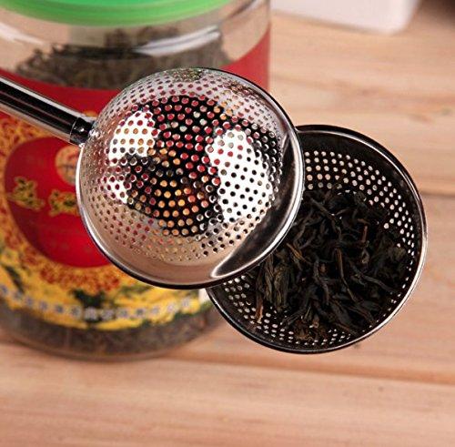 Gsi Stainless Steel Flask Funnel (Stainless Steel Tea Mesh Teaspoon Tea Infuser Reusable Strainer Loose Tea)