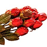Chocolate Chocolate 310200 Single Red Roses - Pack of 12