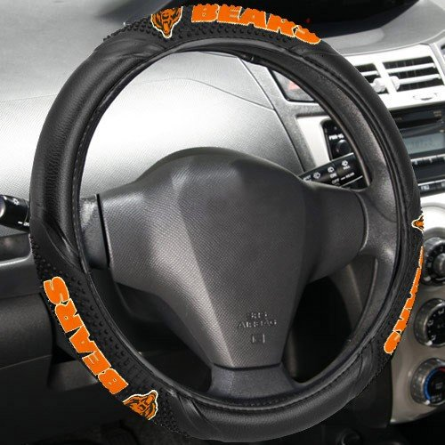 NFL Chicago Bears Massage Grip Steering Wheel Cover, One Size, Black (Large Chicago Bears Window Decal compare prices)