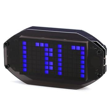 XZANTE DIY Black Mirror LED Matrix Kit de Reloj Despertador con Pantalla de Temperatura Holiday y Birthday Remind Function Azul: Amazon.es: Hogar