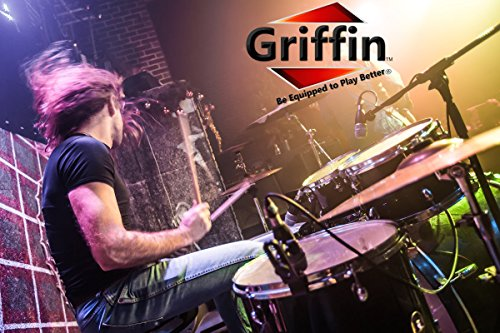 Popcorn Snare Drum by Griffin | Firecracker 10'' x 6'' Poplar Shell with Zebra Wood PVC|Soprano Concert Percussion Musical Instrument with Drummers Key and Deluxe Snare Strainer|Beginner & Professional by Griffin (Image #6)