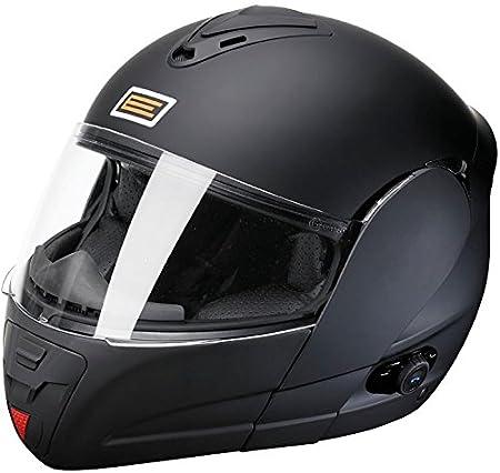 Origine Helmets Techno Flip-Up Casco Moto, Negro Mate, XS