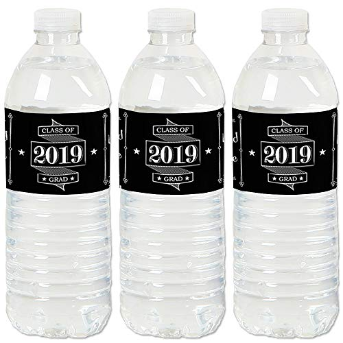 Graduation Cheers - 2019 Graduation Party Water Bottle Sticker Labels - Set of 20 -