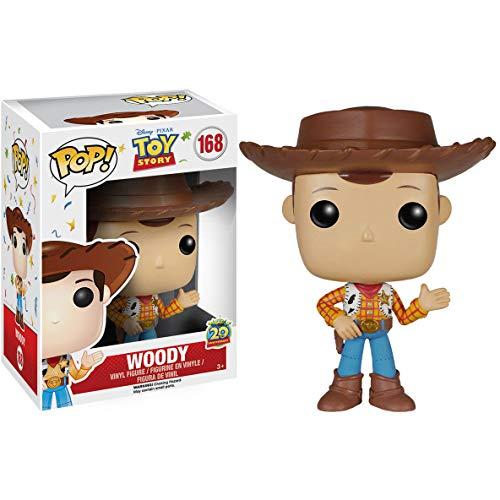 (Funko Woody: Disney Pixar Toy Story x POP! Vinyl Figure & 1 POP! Compatible PET Plastic Graphical Protector Bundle [#168 / 06877 - B])