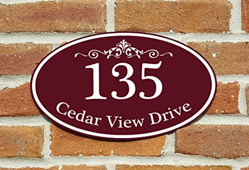 - Customized Home Address Sign, Aluminum 12