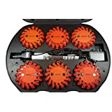 Genuine Pro Lights LED Safety Flare (Red) 6 Pack With Rechargeable Case and Charger