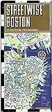 Streetwise Boston Map - Laminated City Center Street Map of Boston, Massachusetts - Folding pocket size travel map with MBTA subway map & trolley lines