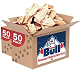 ValueBull Premium Natural Cow Ears Dog Chews, 100 Count