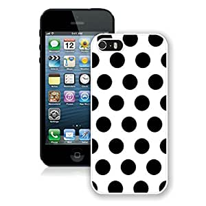 BINGO cheap Polka Dot White and Black iPhone 5 5S Case White Cover