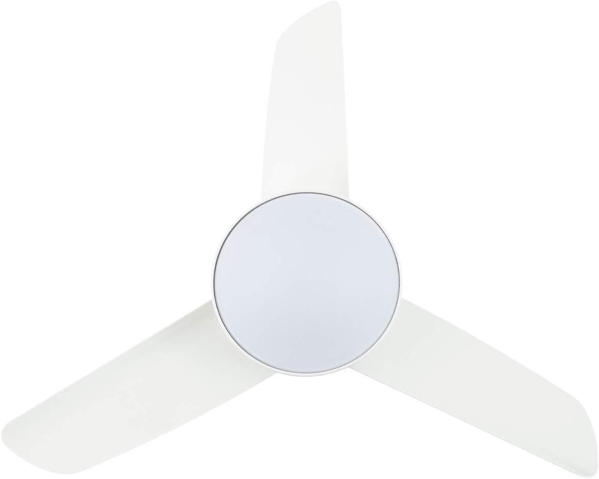 TECHBREY Ventilador de Techo LED Industrial Blanco CCT Seleccionable 55W Seleccionable (Cálido-Neutro-Frío): Amazon.es: Iluminación