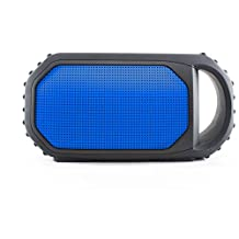 Grace Digital GDI-EGST702 ECOXGEAR ECOSTONE Rugged Waterproof Wireless Bluetooth Speaker - IPX7 Rated (Blue)