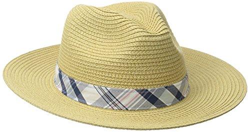Columbia Men's PFG Bonehead Straw Hat, Natural/Collegiate Navy, Small/Medium