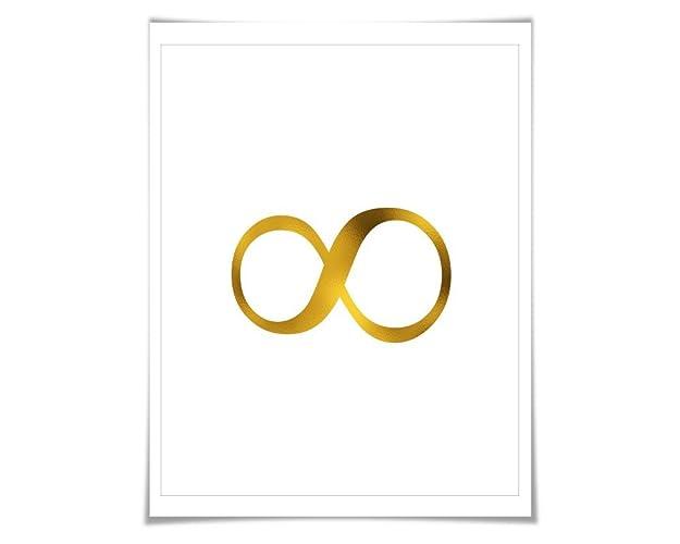 Amazon Infinity Symbol Gold Foil Art Print 7 Foil Colours3