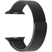 Apple Watch Band, PUGO TOP Milanese Loop Stainless Steel Mesh Replacement Band for Apple Watch Series 2 Series...