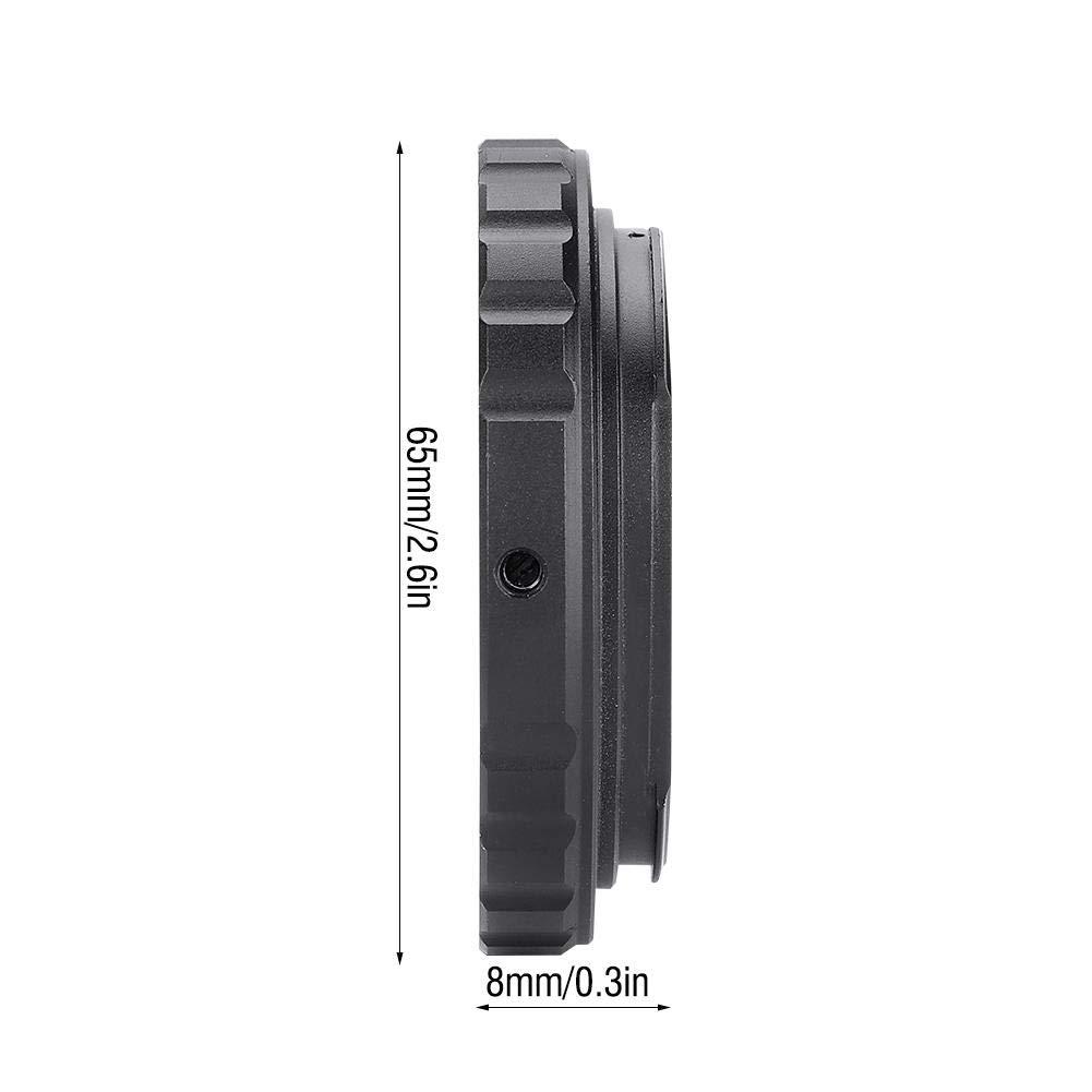 Mugast Adaptador de Montaje T2 Anillo Adaptador de Lente de Aluminio para Canon EOS EF DSLR 650D 60D 550D para Montaje en Rosca Universal T2 T