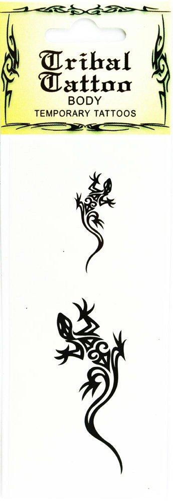 83fc06cf4 Amazon.com: Temporary Lizard Tattoo - Body Tribal Tattoo (Agility): Home &  Kitchen
